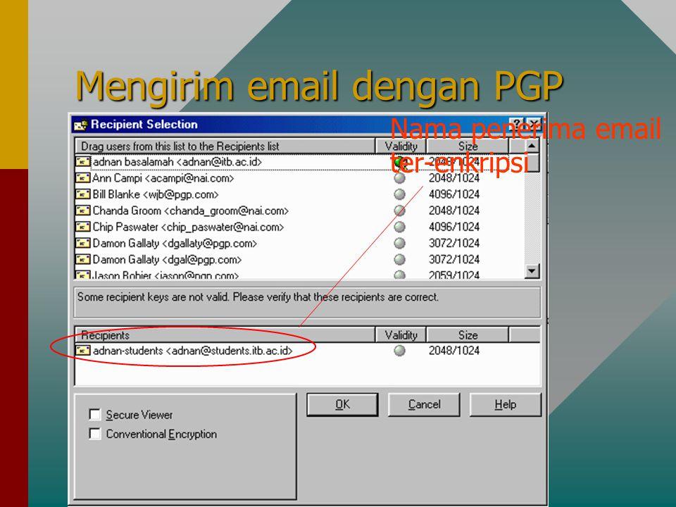 Mengirim email dengan PGP