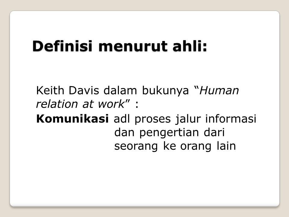 Definisi menurut ahli: