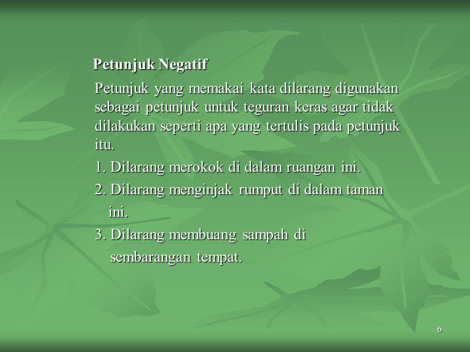 Petunjuk Negatif