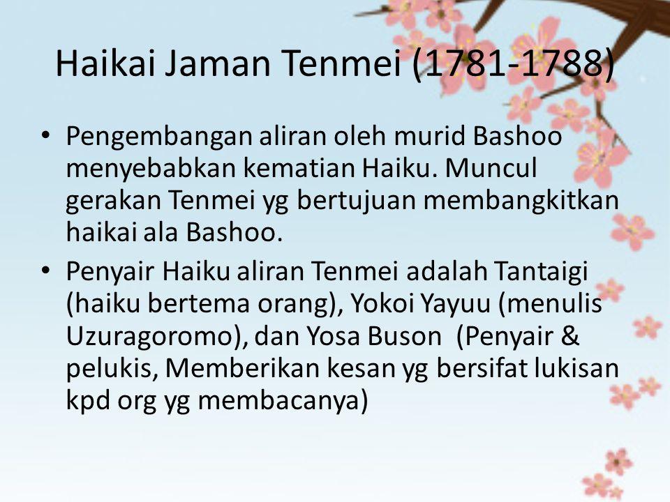 Haikai Jaman Tenmei (1781-1788)