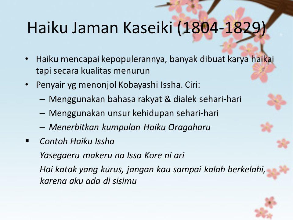 Haiku Jaman Kaseiki (1804-1829)