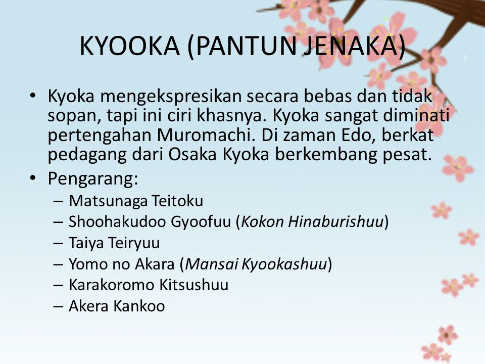 KYOOKA (PANTUN JENAKA)