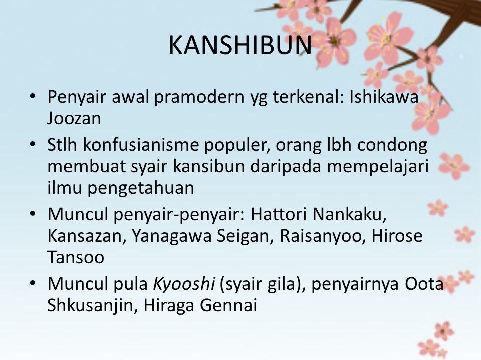 KANSHIBUN Penyair awal pramodern yg terkenal: Ishikawa Joozan