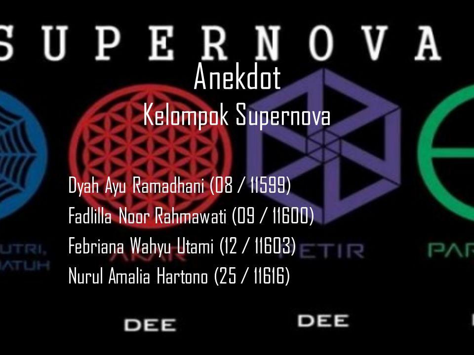 Anekdot Kelompok Supernova