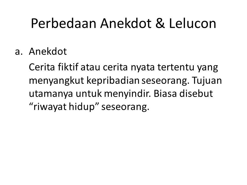 Perbedaan Anekdot & Lelucon