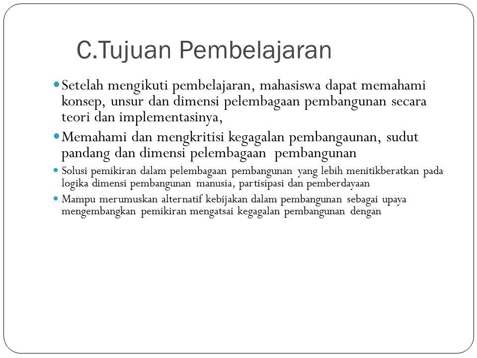 C.Tujuan Pembelajaran
