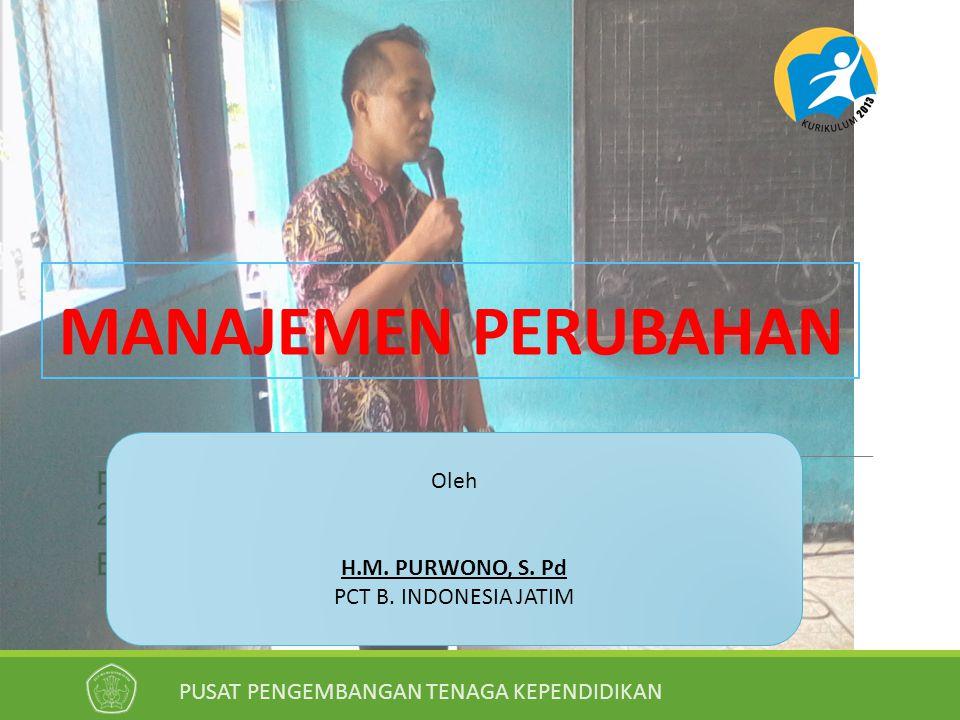 MANAJEMEN PERUBAHAN Oleh H.M. PURWONO, S. Pd PCT B. INDONESIA JATIM