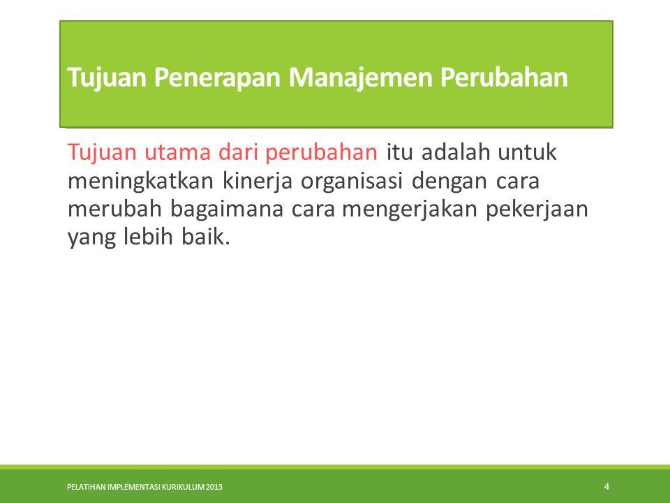 Tujuan Penerapan Manajemen Perubahan