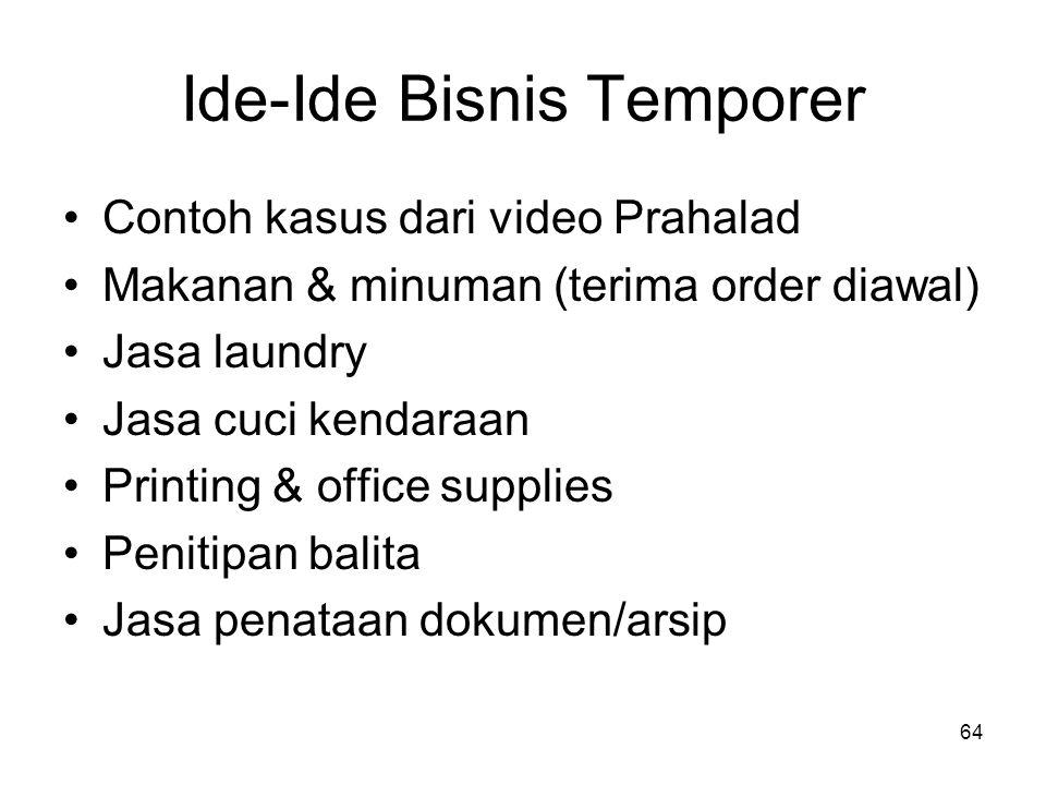 Ide-Ide Bisnis Temporer