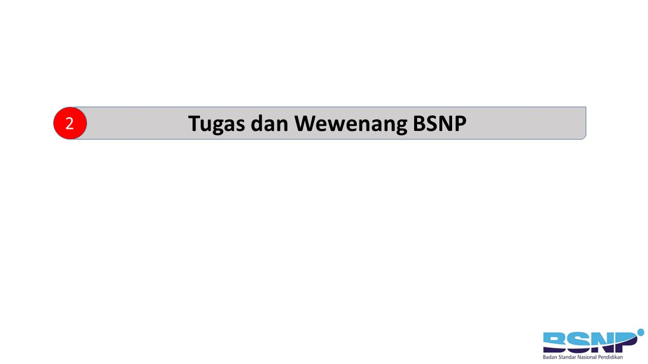 Tugas dan Wewenang BSNP