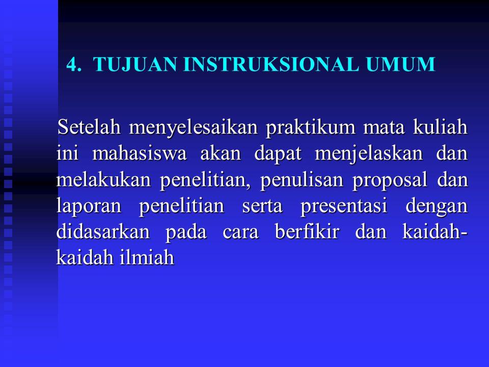 4. TUJUAN INSTRUKSIONAL UMUM