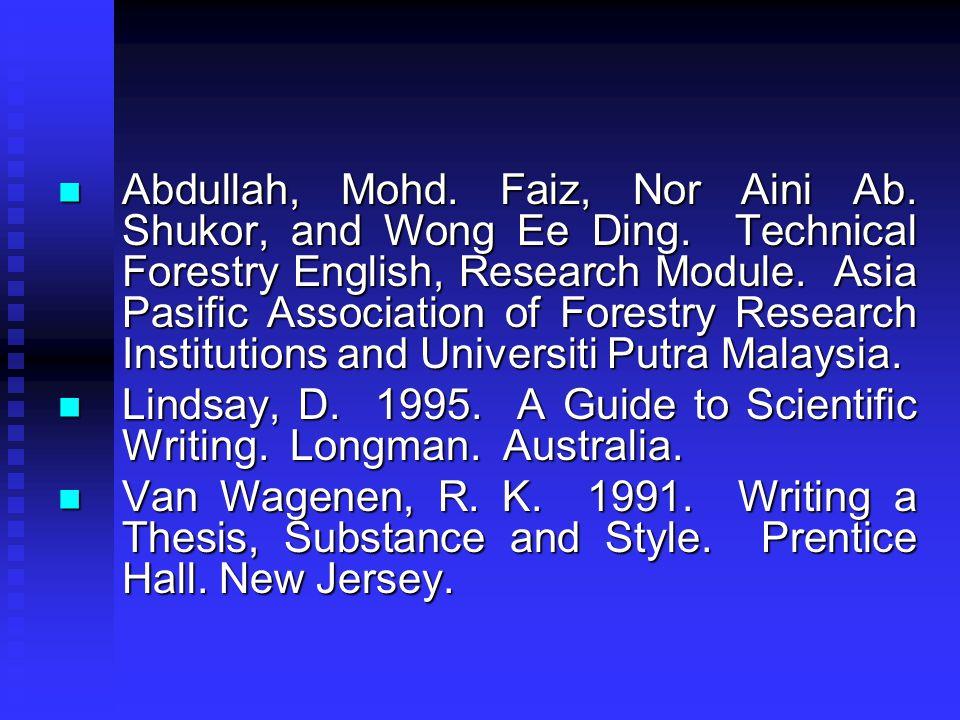 Abdullah, Mohd. Faiz, Nor Aini Ab. Shukor, and Wong Ee Ding