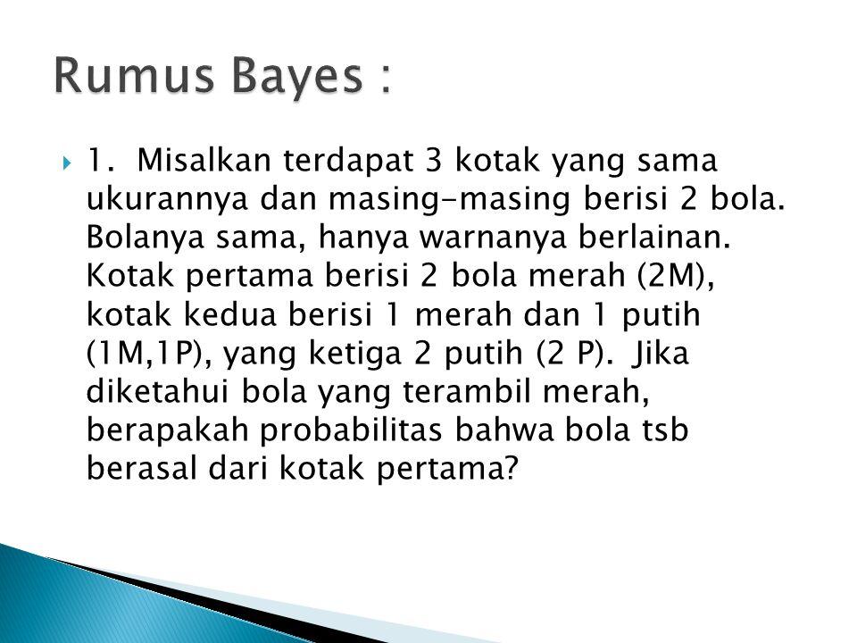 Rumus Bayes :