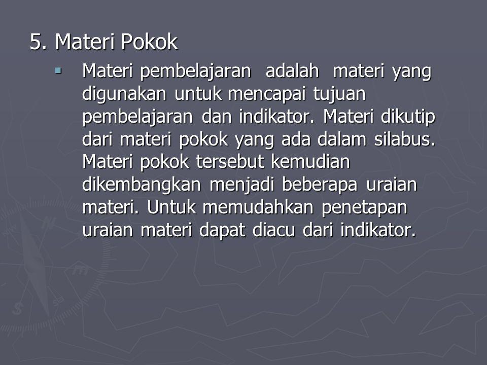 5. Materi Pokok