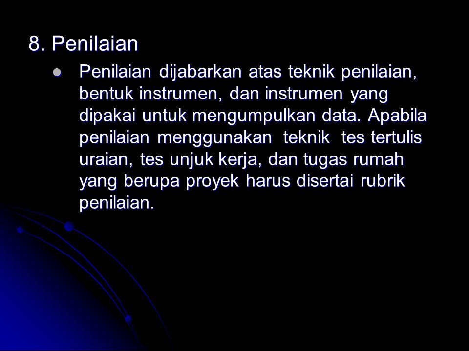 8. Penilaian