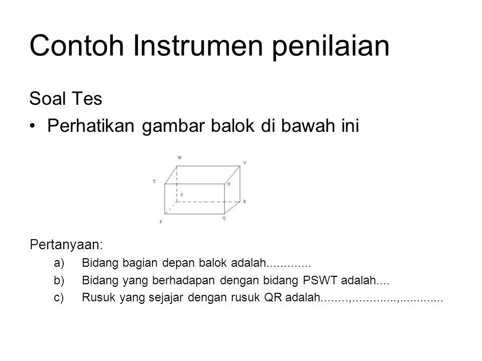 Contoh Instrumen penilaian