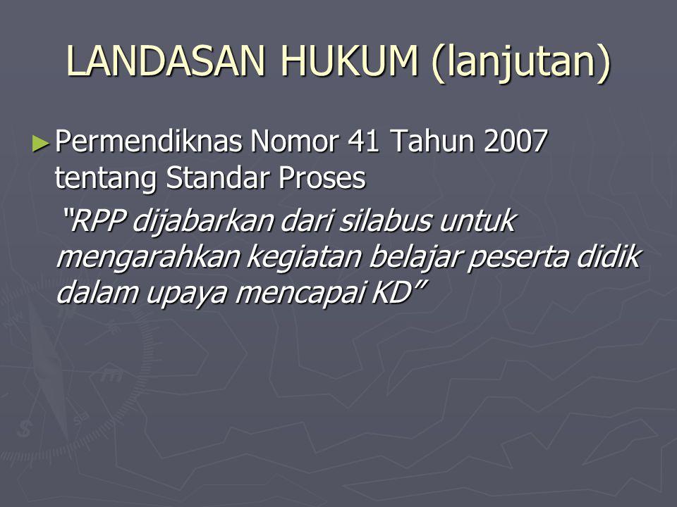 LANDASAN HUKUM (lanjutan)