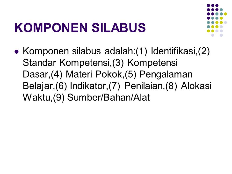 KOMPONEN SILABUS