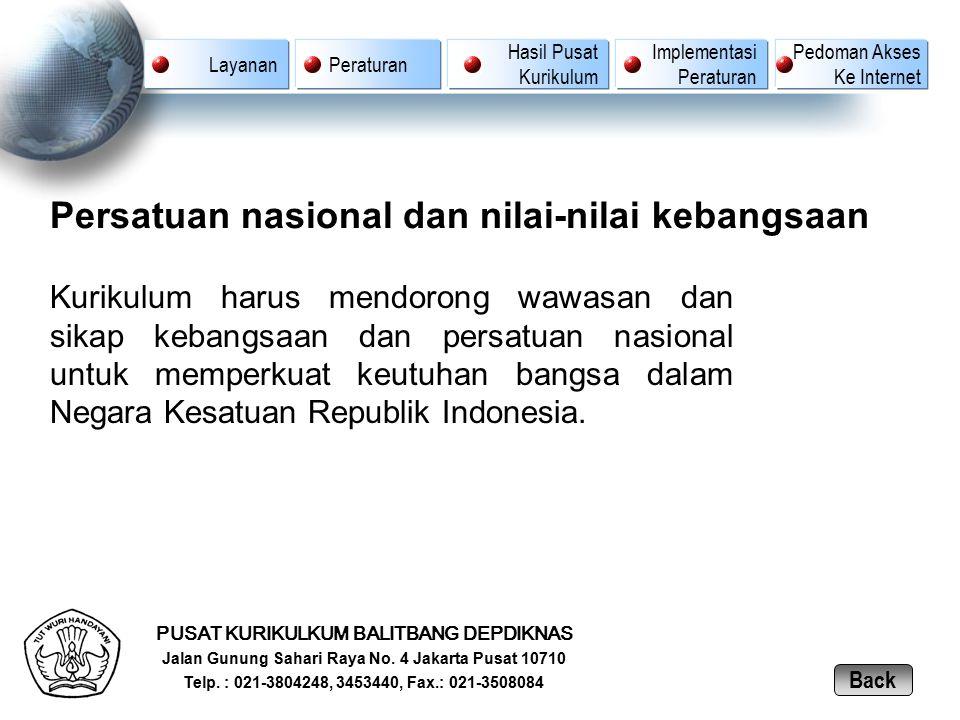 Persatuan nasional dan nilai-nilai kebangsaan