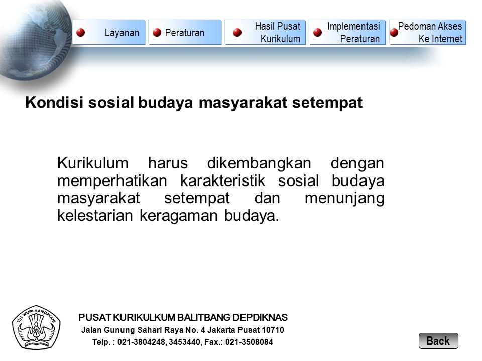 Kondisi sosial budaya masyarakat setempat