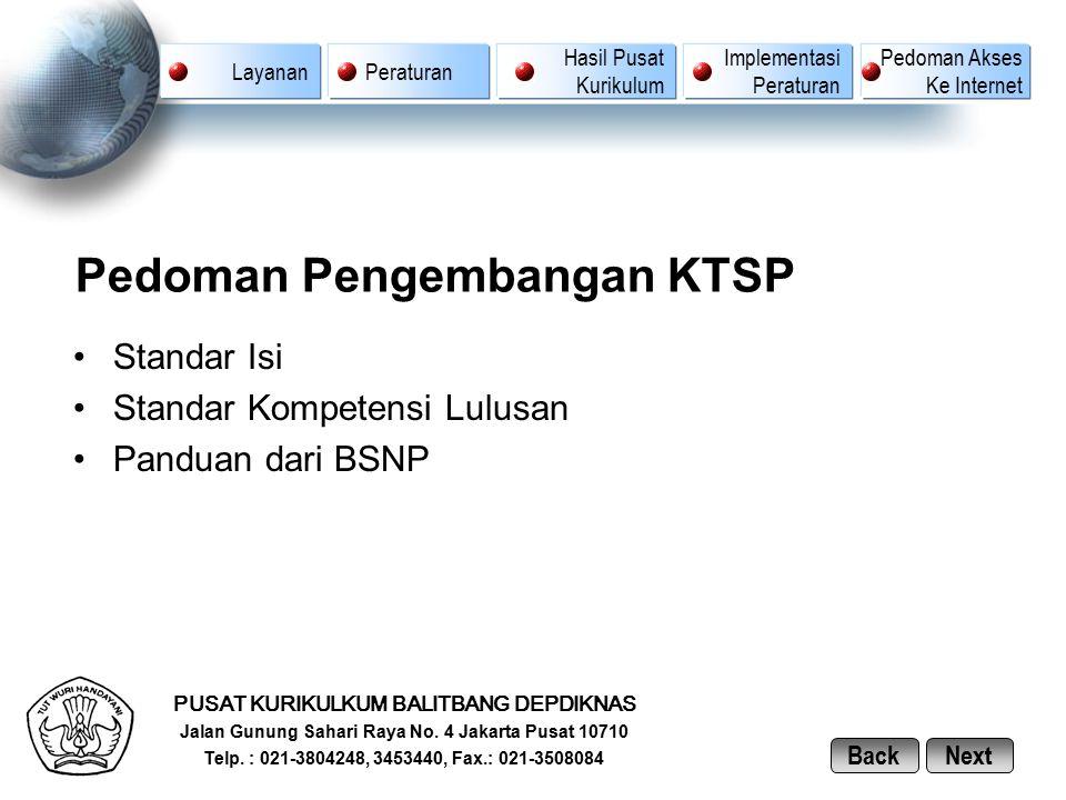 Pedoman Pengembangan KTSP