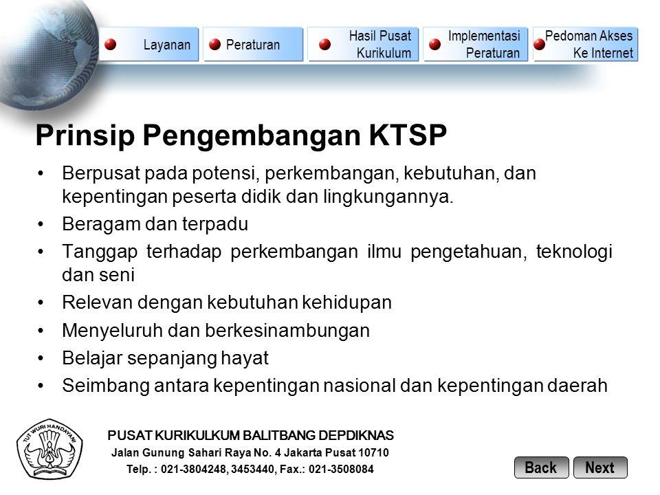 Prinsip Pengembangan KTSP
