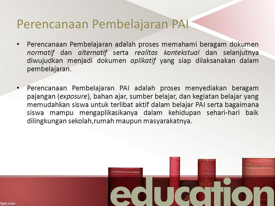Perencanaan Pembelajaran PAI