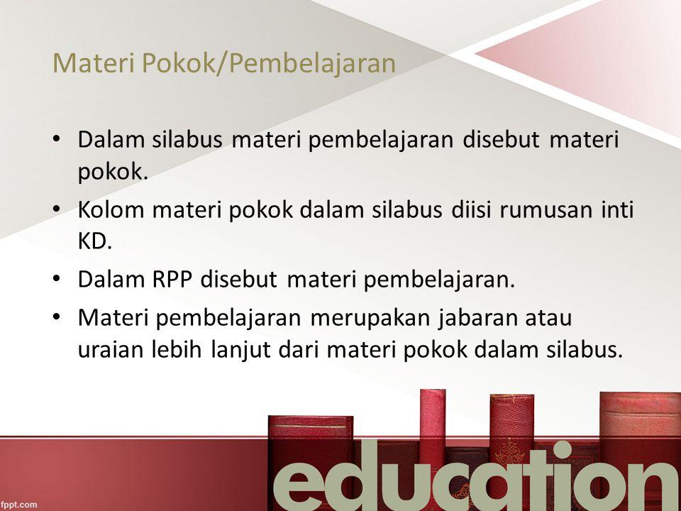 Materi Pokok/Pembelajaran
