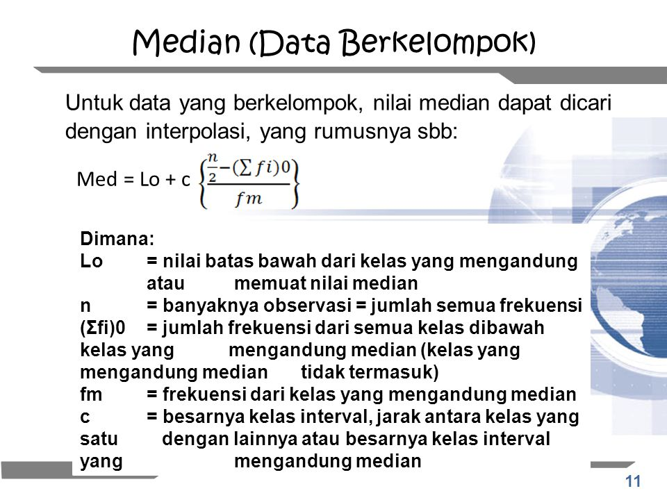 Median (Data Berkelompok)
