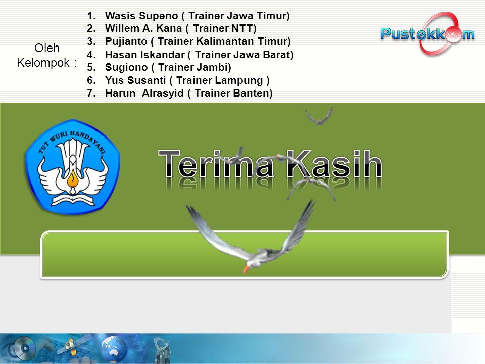 Terima Kasih Oleh Kelompok : Wasis Supeno ( Trainer Jawa Timur)