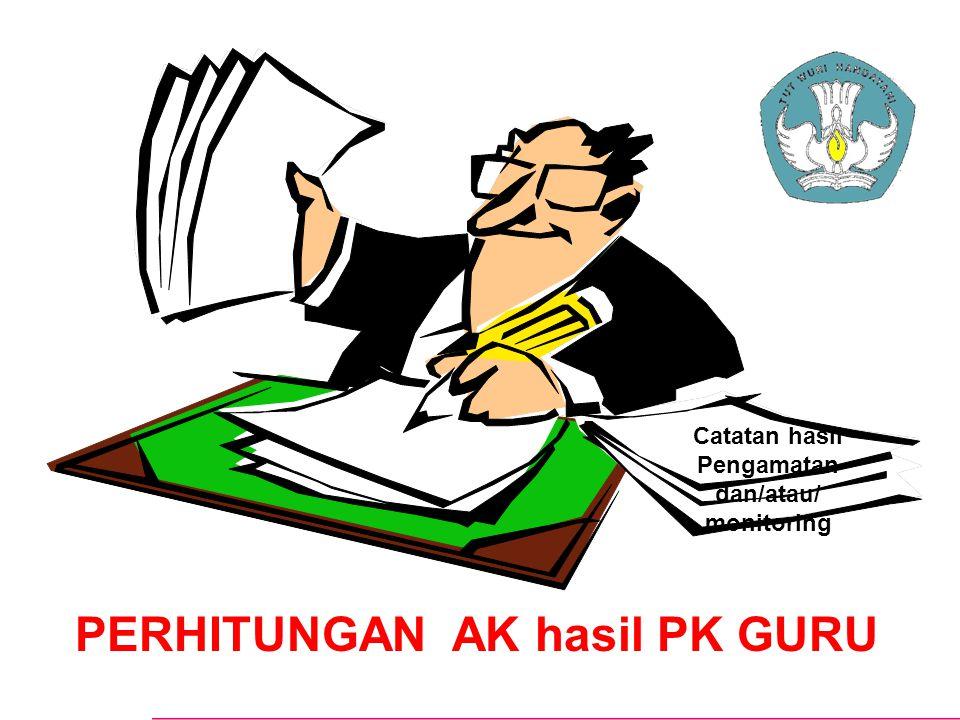 PERHITUNGAN AK hasil PK GURU