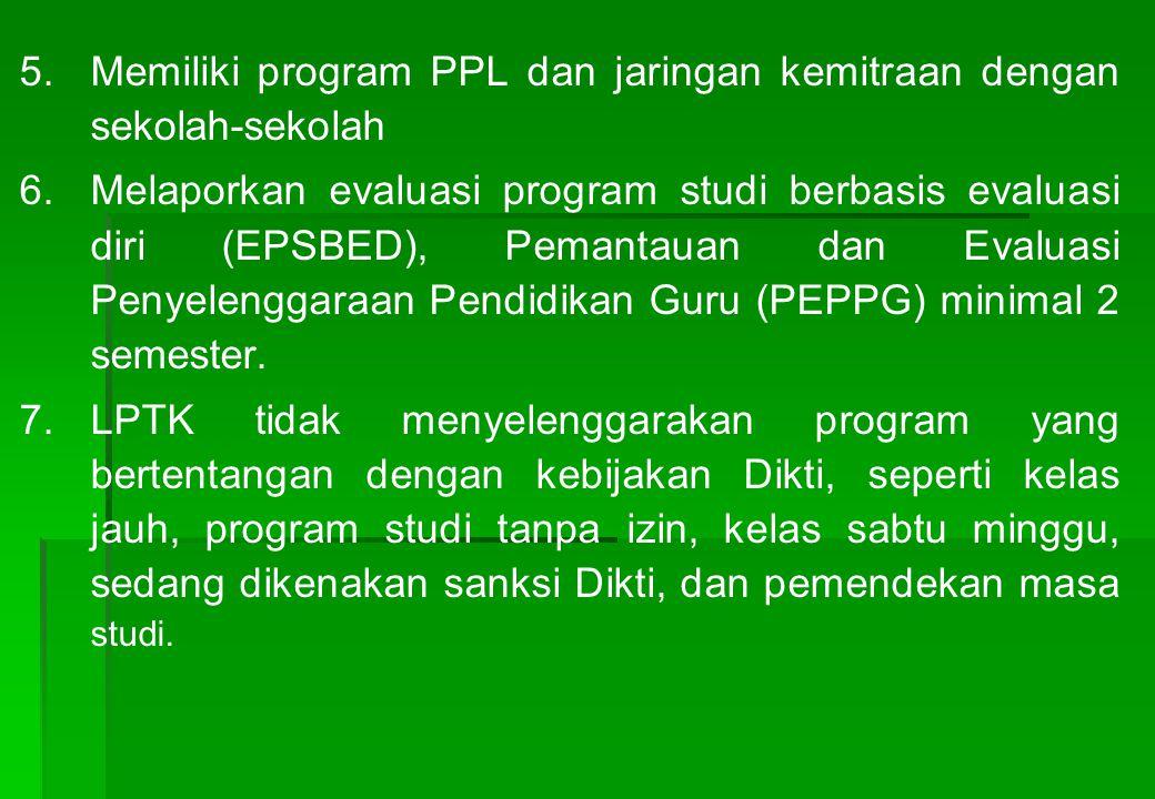 Memiliki program PPL dan jaringan kemitraan dengan sekolah-sekolah