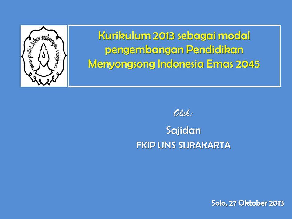 Oleh: Sajidan FKIP UNS SURAKARTA