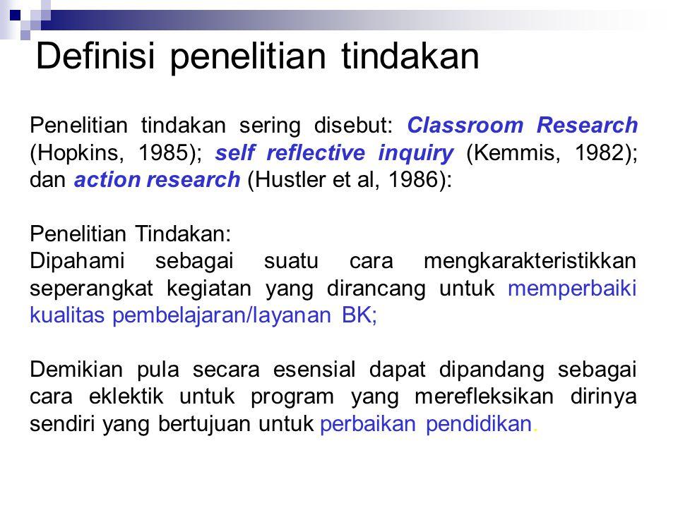 Definisi penelitian tindakan