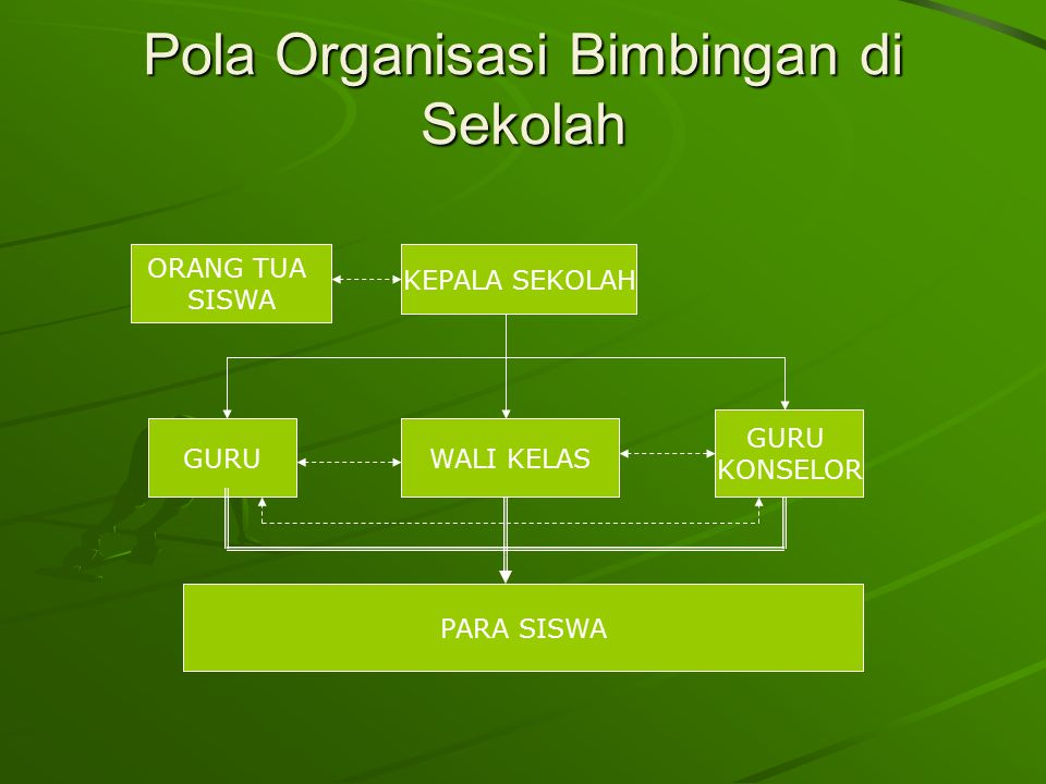 Pola Organisasi Bimbingan di Sekolah