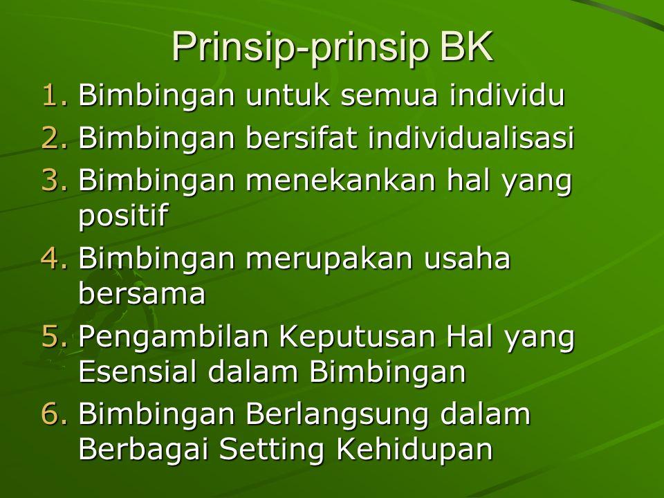 Prinsip-prinsip BK Bimbingan untuk semua individu