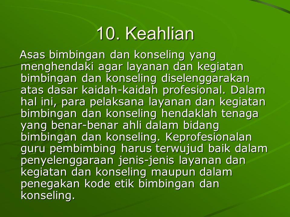 10. Keahlian