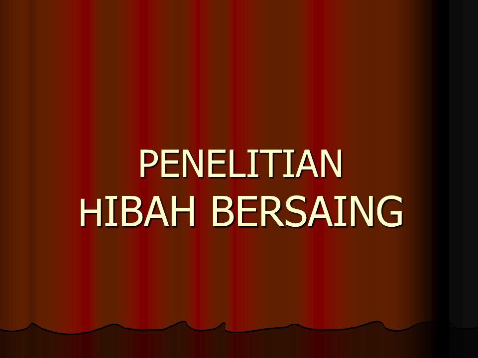 PENELITIAN HIBAH BERSAING