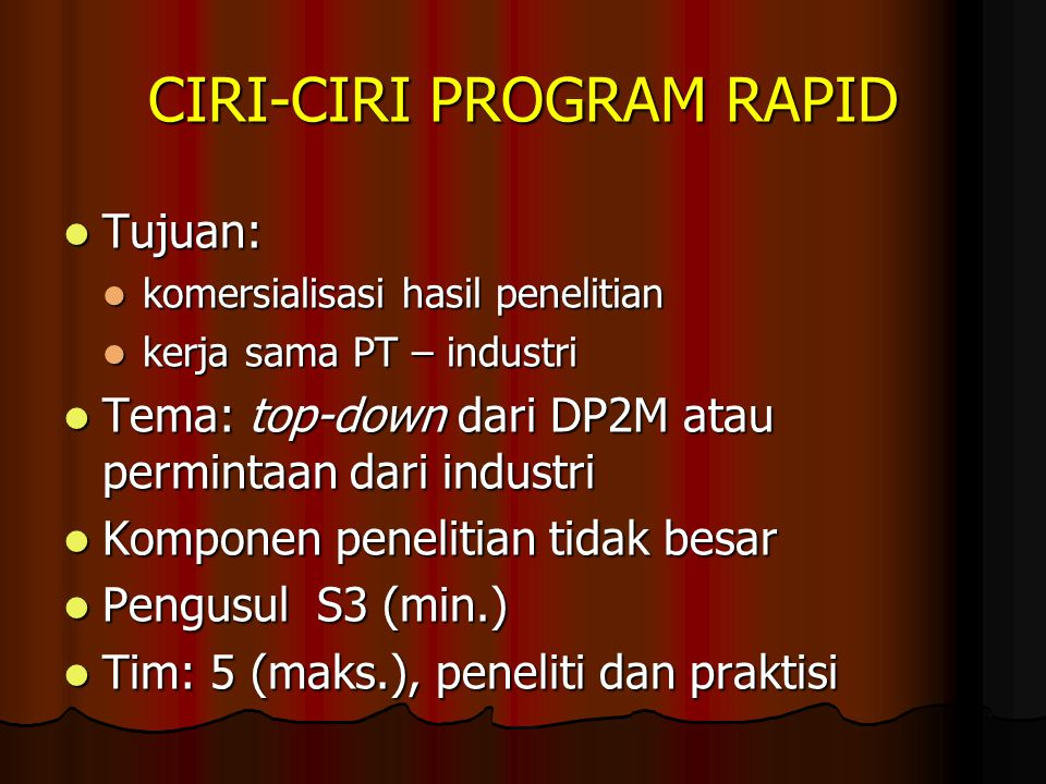 CIRI-CIRI PROGRAM RAPID