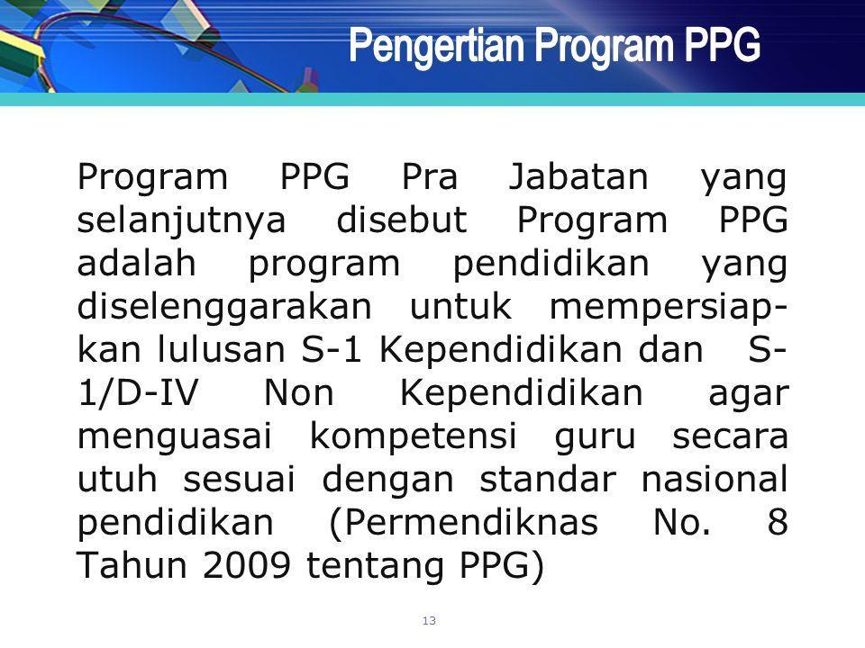Pengertian Program PPG