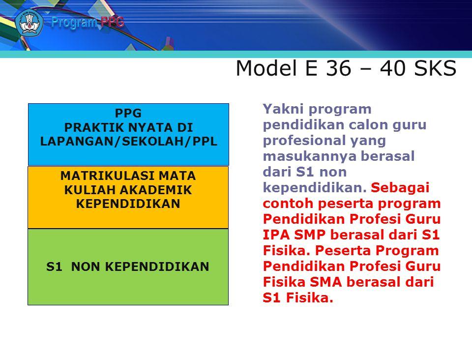 Program PPG Model E 36 – 40 SKS