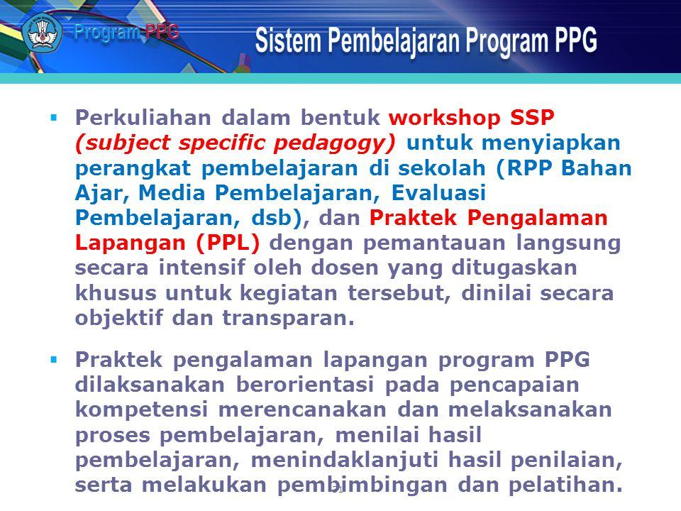 Sistem Pembelajaran Program PPG