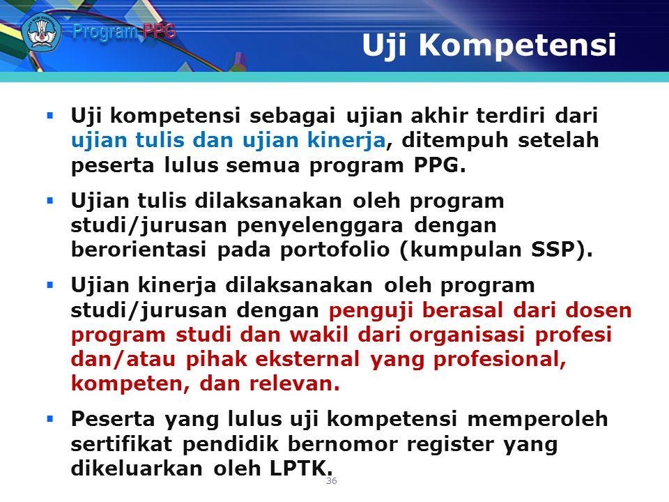 Program PPG Uji Kompetensi