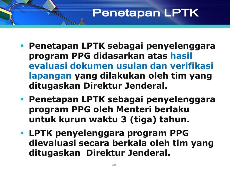 Penetapan LPTK