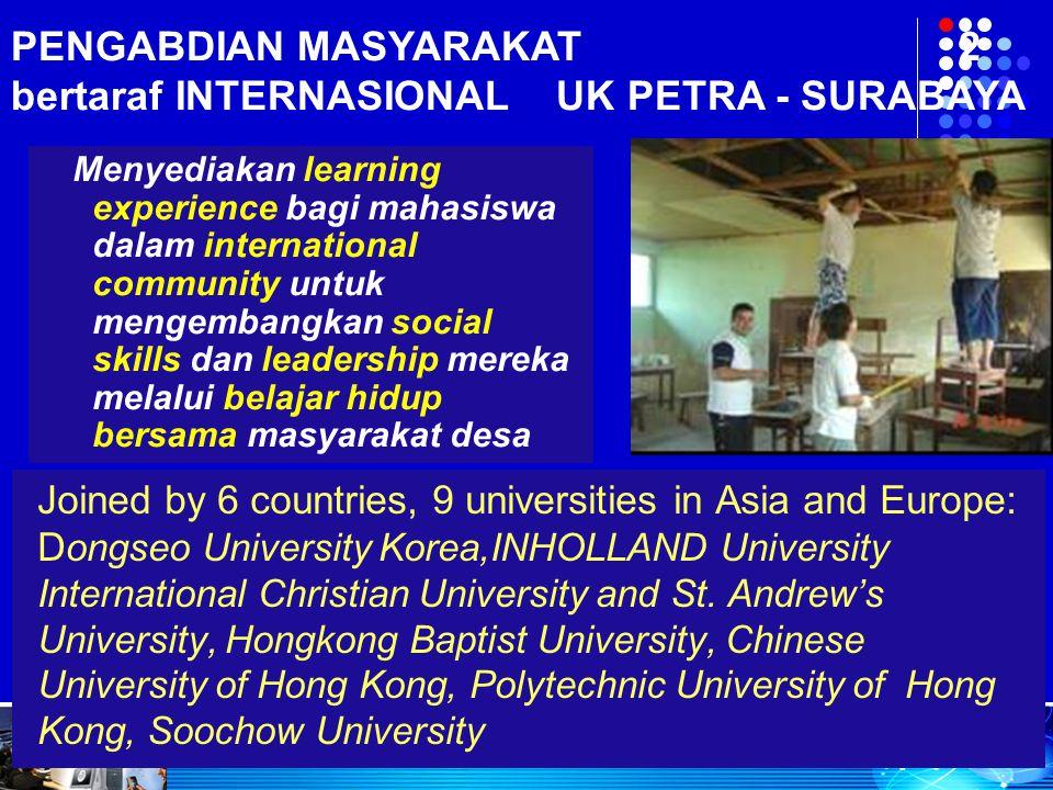 PENGABDIAN MASYARAKAT 2 bertaraf INTERNASIONAL UK PETRA - SURABAYA