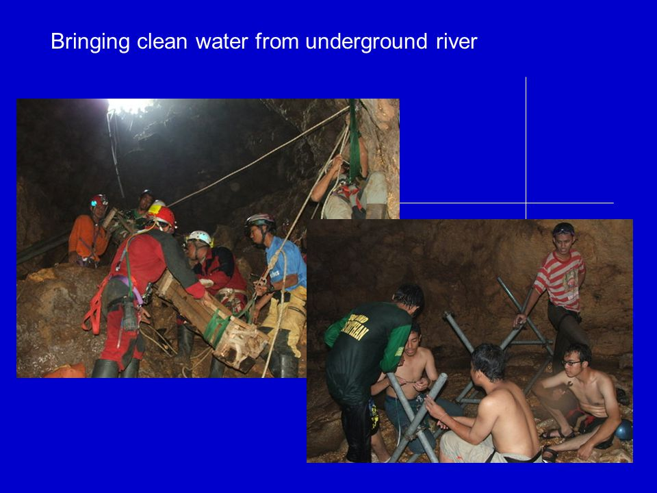 Bringing clean water from underground river