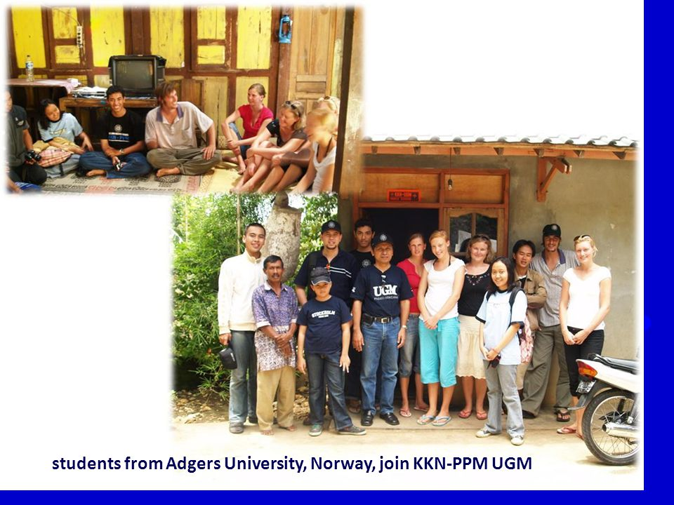 students from Adgers University, Norway, join KKN-PPM UGM