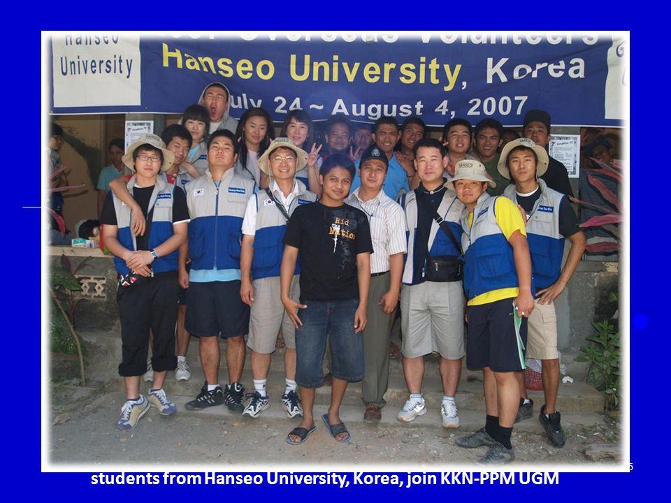 students from Hanseo University, Korea, join KKN-PPM UGM