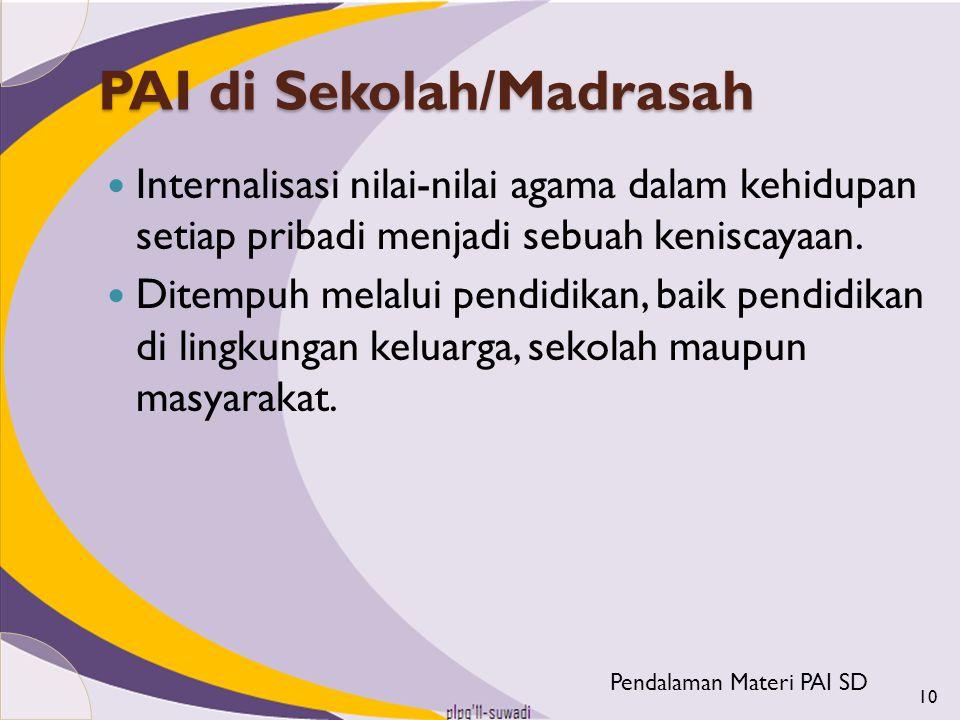 PAI di Sekolah/Madrasah
