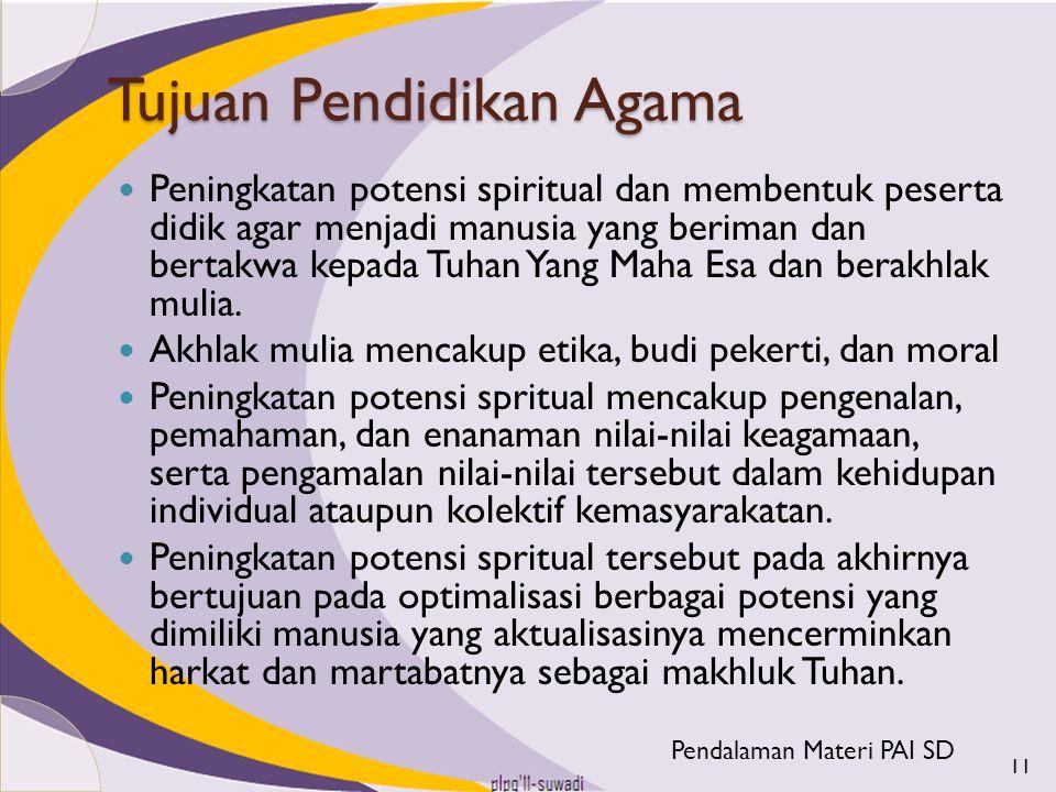 Tujuan Pendidikan Agama
